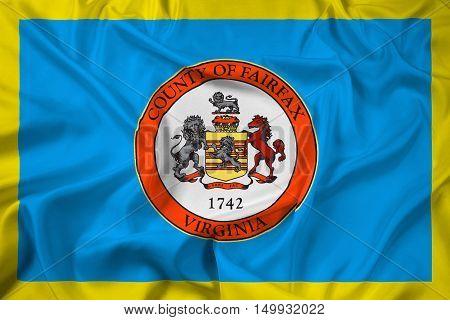 Waving Flag Of Fairfax County, Virginia, Usa