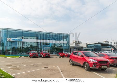 Khimki, Russia - September 12.2016. Car Dealer to sell a cars Mazda and Rolf