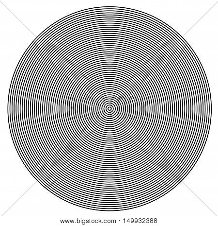 Concentric circles from center texture, 3D render