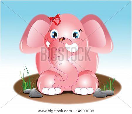 Joyful Pink Elephant