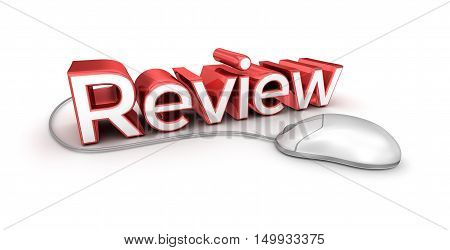 Review text 3d Concept isolated on white