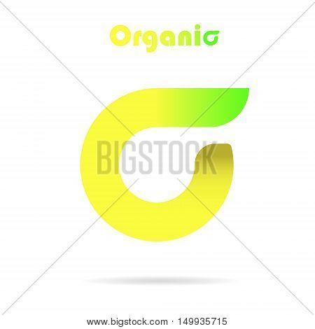 Sigma letter logo eco concept icon 2d vector logo icon on white background eps 10