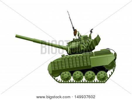 Vector drawing of heavy tank in comics style