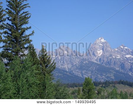Grand Tetons National Park in Wyoming, USA