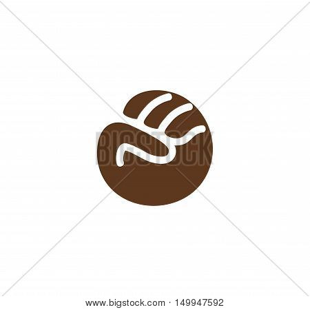 Isolated abstract brown color fist logo. Human hand gesture logotype. Fight for black people rights sign. Anti racism protest symbol. Free race icon. Aggressive emotion. Vector illustration