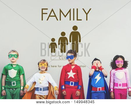 Family Generations Togetherness Relationship Concept