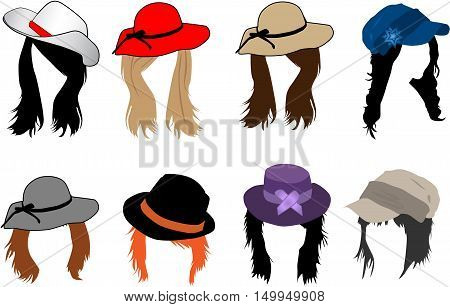 Women's fashion - Hairstyles and headgear ,