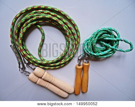 Jump rope or skipping rope equipment for exercise