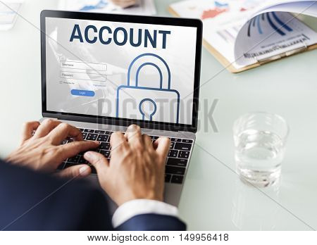 Account Log In User Password Register Concept