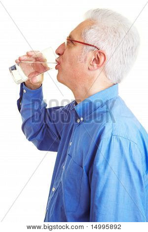 Retiree Drinking Water