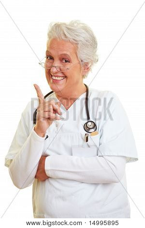 Doctor Shaking Her Index Finger