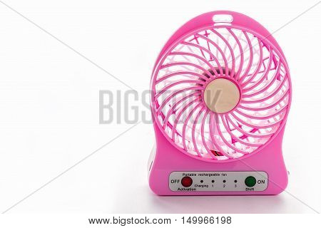 Portable fans batteries to work. You can carry it in different places. It is small