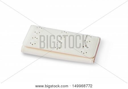 Cream wallet women isolated with clipping path