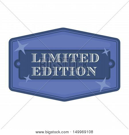 Limited edition icon in cartoon style isolated on white background. Label symbol vector illustration.