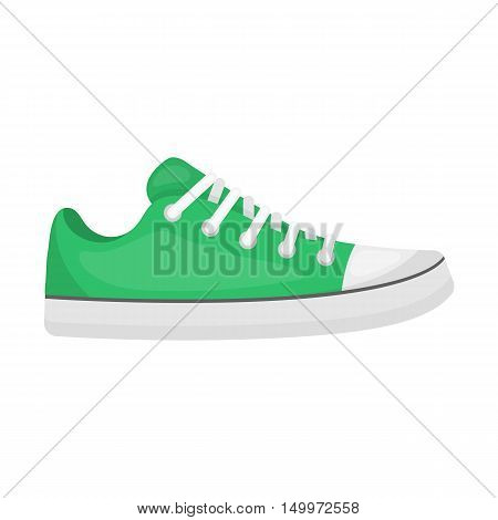 Gumshoes icon in cartoon style isolated on white background. Shoes symbol vector illustration.