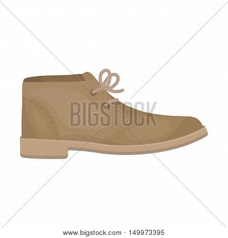 Oxfords icon in cartoon style isolated on white background. Shoes symbol vector illustration.