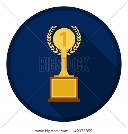 Challenge cup icon in flat style isolated on white background. Winner cup symbol vector illustration.