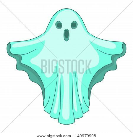 Ghost icon in cartoon style isolated on white background vector illustration