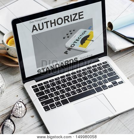 Computer Authorize Device Graphic  Concept