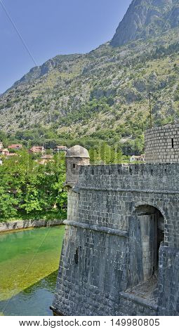 The Bembo Bastion part of Kotor's defensive city walls. Dates from 1540.