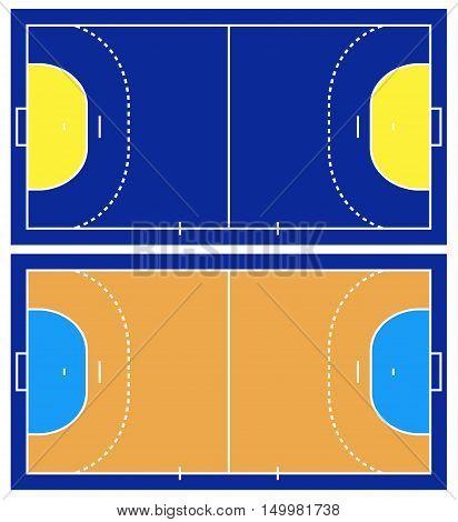 Illustration of Handball court isolated on white