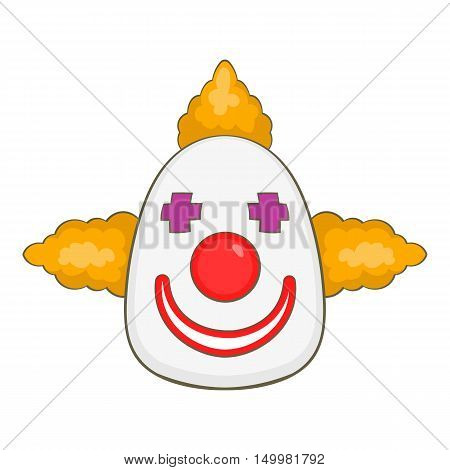Clown icon in cartoon style isolated on white background vector illustration