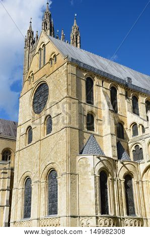 Part of Canterbury Cathedral kent from outside
