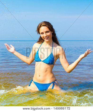 Model under Sun Outdoor Fun