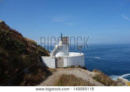 Cies Islands lighthouse in Vigo city, Spain