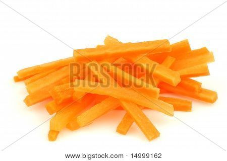 Winter carrot cut in julienne