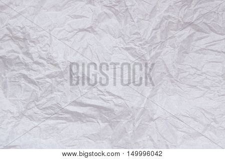 White crumpled paper abstract for texture background