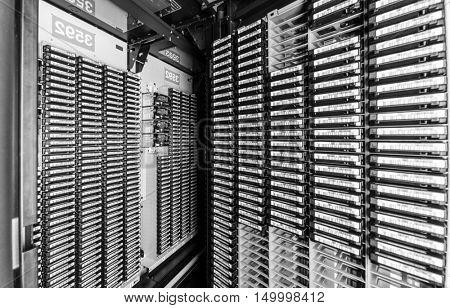 storage tapes in internet data center room