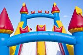 stock photo of inflatable slide  - Horizontal photo of a children - JPG