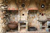 Rustic Old Outdoor Kitchen poster
