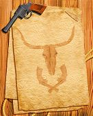 Cowboy Style.old Paper Background
