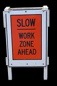 Slow Work Zone poster