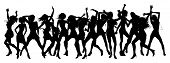 image of ladies night  - Silhouettes of sexy beautiful women dancing in a group - JPG