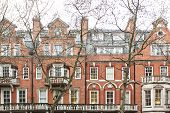 pic of front door  - Typical British Red Brick Facade Houses View - JPG