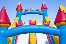 picture of inflatable slide  - Horizontal photo of a children - JPG