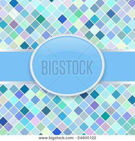 Pop art blue retro cover