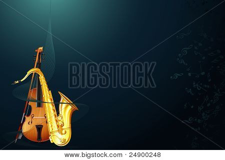 saxophone with violin