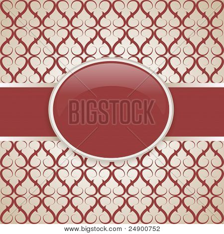 Art vector retro ornate cover