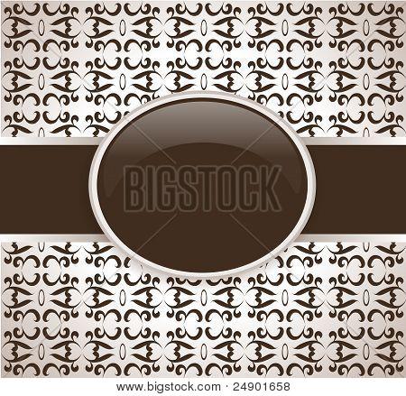 Art vector retro brown ornate cover