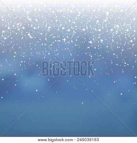 Stock Vector Illustration Falling Snow