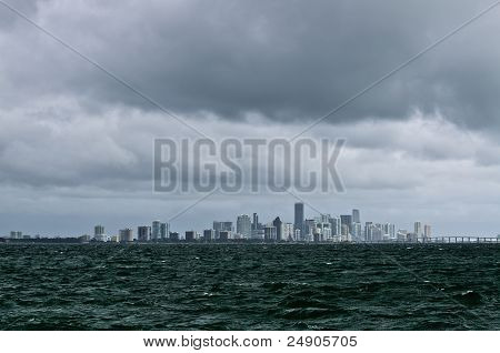 Stormy Day Over Miami