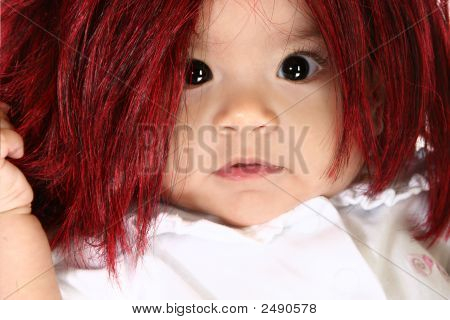 Baby In Wig