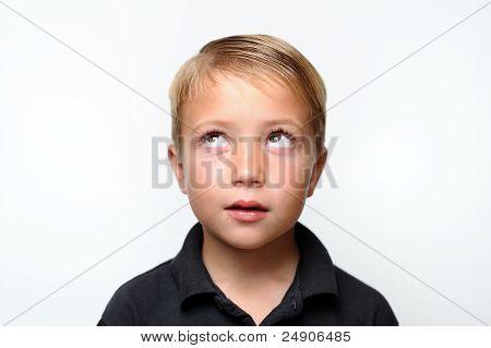 Boy Looking Upward