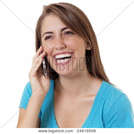happy cell phone user