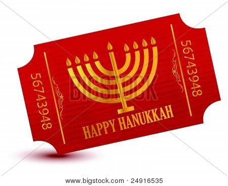 Happy hanukkah event ticket illustration