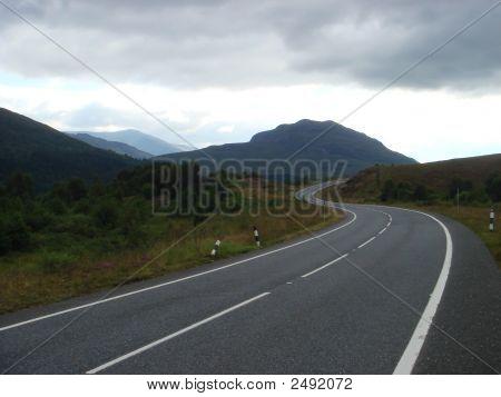 Winding Road In Scotland